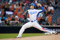 19 March 2009: #13 Wonsam Jang of Korea pitches against Japan during the 2009 World Baseball Classic Pool 1 game 6 at Petco Park in San Diego, California, USA. Japan wins 6-2 over Korea.