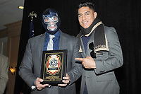 LAS VEGAS, NV - MAY 01: Blue Demon Jr and Jesse Vargas at the 53rd Cauliflower Alley Club Reunion Convention at the Gold Coast Hotel & Casino in Las Vegas, Nevada on May 1, 2018. Credit: George Napolitano/MediaPunch