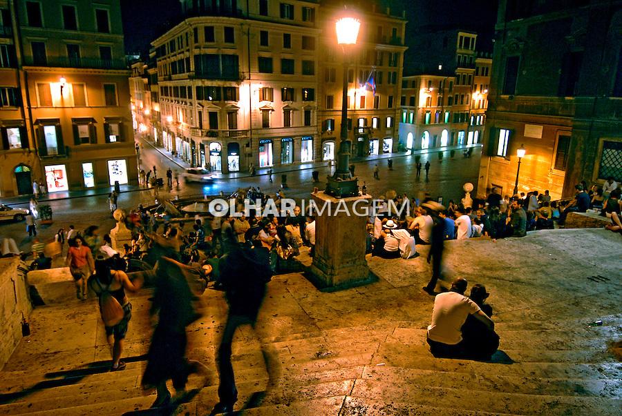 Escadaria da Praça de Espanha. Roma. Itália. 2006. Foto de Luciana Whitaker.