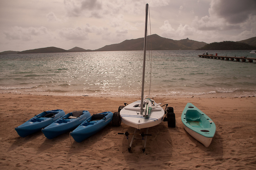 Boats at the Ready, Turtle Island, Yasawa Islands, Fiji