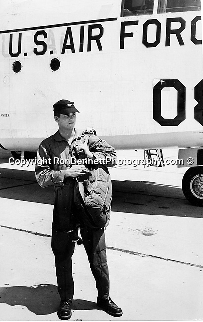 Ron Bennett News Photographer USAFR C119 in background,
