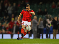1st February 2020; Millennium Stadium, Cardiff, Glamorgan, Wales; International Rugby, Six Nations Rugby, Wales versus Italy; Jarrod Evans of Wales warms up before the match