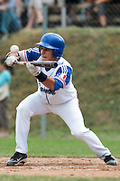 25 july 2010: Maxime Lefevre of France makes a bunt during France 6-1 victory over Czech Republic, in day 3 of the 2010 European Championship Seniors, in Neuenburg, Germany.