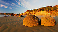 Moeraki Boulders at sunrise, Coastal Otago