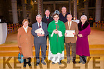 Pioneers who have completed  50 and 60 membership of the Pioneer Association were presented with pins and certificates at the Vigil Mass in St. John's  on Saturday were Teresa O'Hara,  Bill Corcoran Fr Bernard Healy Vincent O'Mahony , Celia Cooke, sec, back l-r Derry O'Mahony and Liam Fitzgerald