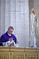 Monsignor Georg Gänswein, during a mass at the U.S. World War II cemetery in Nettuno, near Rome. on the day Christians around the world commemorate their dead, on November 2, 2017