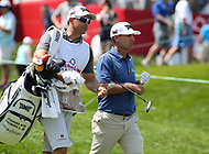 Potomac, MD - June 30, 2018: Charles Howell III (USA) walks with his caddie during Round 3 at the Quicken Loans National Tournament at TPC Potomac in Potomac, MD, June 30, 2018.  (Photo by Elliott Brown/Media Images International)