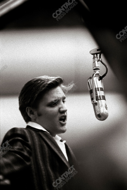 "At a session in Studio 1 RCA, when Elvis recorded ""Hound Dog"" and ""Don't Be Cruel"".  Manhattan, New York City, USA, July 2, 1956"