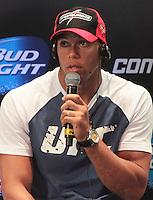 RIO DE JANEIRO, RJ, 01 AGOSTO 2013 - ENTREVISTA THIAGO MARRETA SANTOS UFC 163 RIO - O atleta do UFC Thiago Marreta Santos participando da entrevista coletiva do UFC 163 que acontece no Rio De Janeiro na Lapa no Rio de Janeiro nessa quinta 01. (FOTO: LEVY RIBEIRO / BRAZIL PHOTO PRESS)