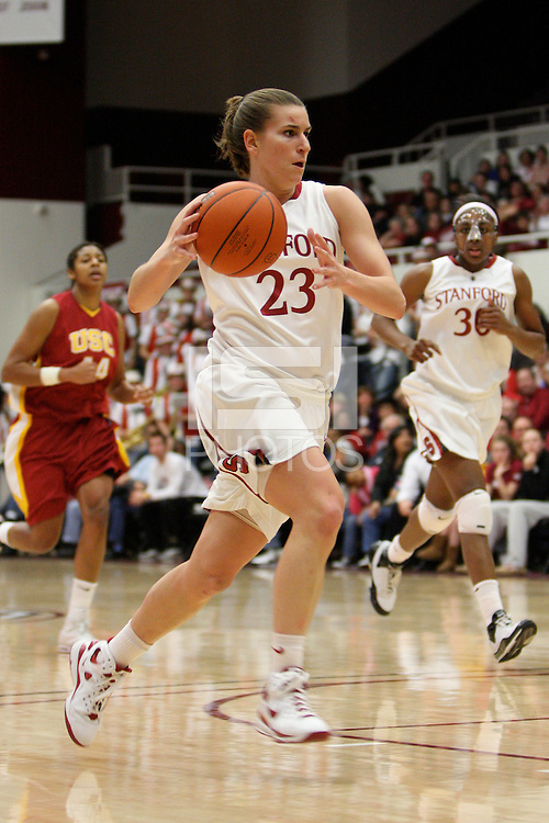 STANFORD, CA - JANUARY 29:  Jeanette Pohlen of the Stanford Cardinal during Stanford's 81-53 win over the USC Trojans on January 29, 2009 at Maples Pavilion in Stanford, California.