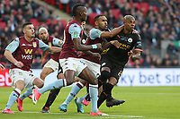 Ahmed Elmohamady of Aston Villa gets to grips with Fernandinho of Manchester City during Aston Villa vs Manchester City, Caraboa Cup Final Football at Wembley Stadium on 1st March 2020