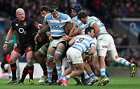 England's Chris Robshaw tackled in todays game <br /> <br /> Photographer Rachel Holborn/CameraSport<br /> <br /> International Rugby Union Friendly - Old Mutual Wealth Series Autumn Internationals 2017 - England v Argentina - Saturday 11th November 2017 - Twickenham Stadium - London<br /> <br /> World Copyright &copy; 2017 CameraSport. All rights reserved. 43 Linden Ave. Countesthorpe. Leicester. England. LE8 5PG - Tel: +44 (0) 116 277 4147 - admin@camerasport.com - www.camerasport.com