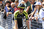 Mikel Nieve (ESP) Mitchelton-Scott makes his way to the start ramp before Stage 1 of the 2019 Giro d'Italia, an individual time trial running 8km from Bologna to the Sanctuary of San Luca, Bologna, Italy. 11th May 2019.<br /> Picture: Eoin Clarke | Cyclefile<br /> <br /> All photos usage must carry mandatory copyright credit (© Cyclefile | Eoin Clarke)