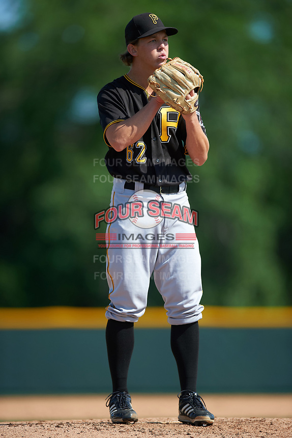 Pittsburgh Pirates Seth McGarry (62) during a minor league Spring Training intrasquad game on April 3, 2016 at Pirate City in Bradenton, Florida.  (Mike Janes/Four Seam Images)