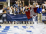 "19 MAR 2016: Members of the Arizona swim team cheer on their teammates as they compete in the 400 Yard Freestyle Relay ""B"" final during the Division I Women's Swimming & Diving Championship held at the Georgia Tech Aquatic Center in Atlanta, GA. David Welker/NCAA Photos"