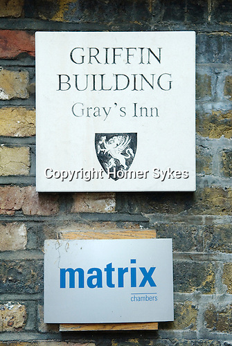 Matrix Chambers  Griffin Building Grays Gray's  Inn London UK