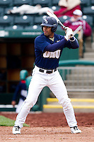 Chris Elder (12) of the Oral Roberts Golden Eagles at bat during a game against the Missouri State Bears on March 27, 2011 at Hammons Field in Springfield, Missouri.  Photo By David Welker/Four Seam Images
