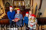 Rev Jim Stephens, Suzie Keating, Anna Chute, Ann Kane and Sarah Chute at the launch of St John's Christmas Fair on Tuesday.