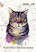 Simon, REALISTIC ANIMALS, REALISTISCHE TIERE, ANIMALES REALISTICOS, paintings+++++KatherineW_SplatterCat,GBWR15,#a#, EVERYDAY