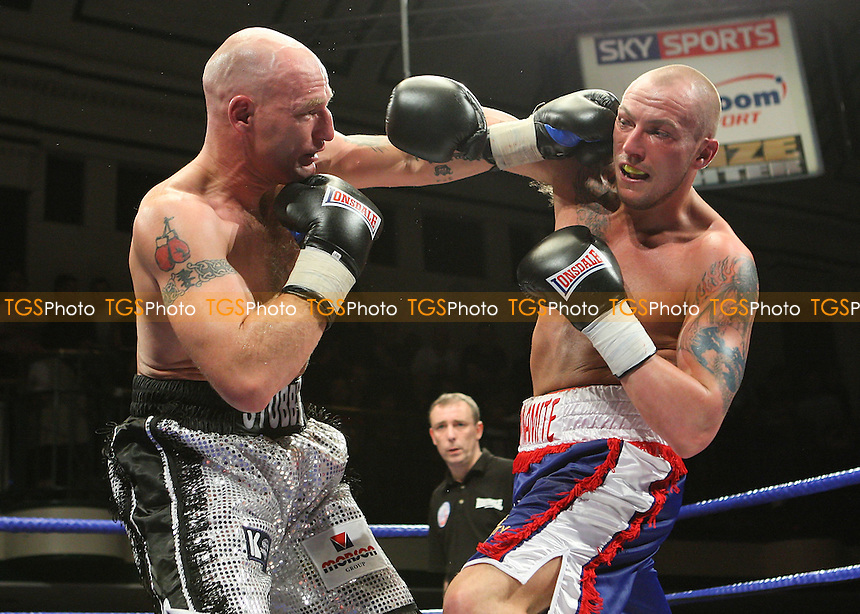 Semi-Final: Darren Stubbs (Oldham, silver shorts) defeats Carl Dilks (Liverpool, blue shorts) - Prizefighter 'The Light Heavyweights' boxing tournament at York Hall, Bethnal Green, promoted by Matchroom Sports / Barry Hearn - 21/02/09 - MANDATORY CREDIT: Gavin Ellis/TGSPHOTO - Self billing applies where appropriate - 0845 094 6026 - contact@tgsphoto.co.uk - NO UNPAID USE.