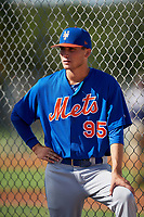 GCL Mets pitcher Zachary Hammer (95) before a game against the GCL Cardinals on August 6, 2018 at Roger Dean Chevrolet Stadium in Jupiter, Florida.  GCL Cardinals defeated GCL Mets 6-3.  (Mike Janes/Four Seam Images)