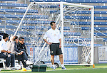 08 September 2007: Brazil head coach Dunga watches his team warm up. The Brazil Men's National Team practiced at Toyota Park in Bridgeview, Illinois.