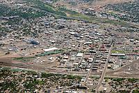 High aerial of Pueblo, Colorado downtown.  June 2013. 89598