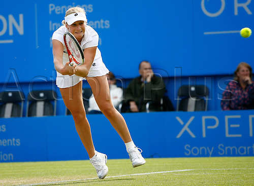 21.06.12 Devonshire Park, Eastbourne, ENGLAND: Angelique Kerber(GER) def Ekaterina Makarova (RUS) in Women's Singles Quarter finals 6-2 6-4 at the AEGON INTERNATIONAL tournament in Eastbourne June 21 2012