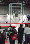 November 9th, 2011 : Tokyo, Japan – YUME ROBO climbs the wall. during International Robot Exhibition 2011. This show is held to showcase new robots and high technology equipments at the Tokyo International Exhibit Center. International Robot Exhibition 2011 runs from November 9 – 12. (Photo by Yumeto Yamazaki/AFLO)