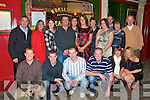 Engagement Party: Celebrating their  engagement on Saturday night at the Horseshoe Bar in Listowel are Caroline Cox, Causway, and Stephen Foley, Ballylongford with family and friends, front: Donal O'Mahony,Kenneth Prendergast, Kenneth Foley, Johnathan Keane, Leone Cox & Rose Brady. Back : Mike Foley, Joanne O'Flaherty,Michelle Foley, Stephen Foley, Lisa Foley, Caroline Cox, Eileen Foley, Catherine Foley, Liam Foley, Betty & Joe Cox.