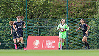 OHL's goalkeeper Faye Lammertijn (22) with the ball after a save  during a female soccer game between Standard Femina de Liege and Oud Heverlee Leuven on the second matchday of the 2020 - 2021 season of Belgian Scooore Women s SuperLeague , saturday 5 th of September 2020  in Angleur , Belgium . PHOTO SPORTPIX.BE | SPP | SEVIL OKTEM