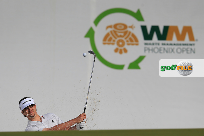 Beau Hossler (USA) during the 1st round of the Waste Management Phoenix Open, TPC Scottsdale, Scottsdale, Arisona, USA. 31/01/2019.<br /> Picture Fran Caffrey / Golffile.ie<br /> <br /> All photo usage must carry mandatory copyright credit (&copy; Golffile | Fran Caffrey)