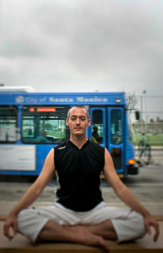 Julian Walker, Yoga instructor at Santa Monica Yoga, Los Angeles California US