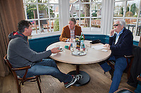 21-02-2014, Netherlands, Eemnes,  Michiel Schapers(NED), Coach, interviewd by Jon Visbeen (M) and Bep van Hout<br /> Photo: Henk Koster