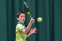 Wateringen, The Netherlands, March 16, 2018,  De Rhijenhof , NOJK 14/18 years, Nat. Junior Tennis Champ. Michael Schut (NED)<br />  Photo: www.tennisimages.com/Henk Koster