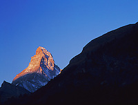 Sunrise on Matterhorn, Zermatt, Swiss Alps, Switzerland, Europe