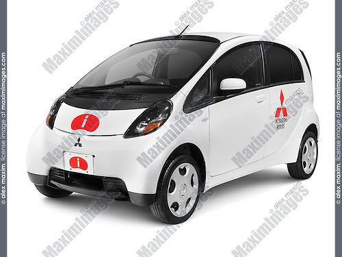 2010 Mitsubishi i kei car small city car isolated on white background with clipping path