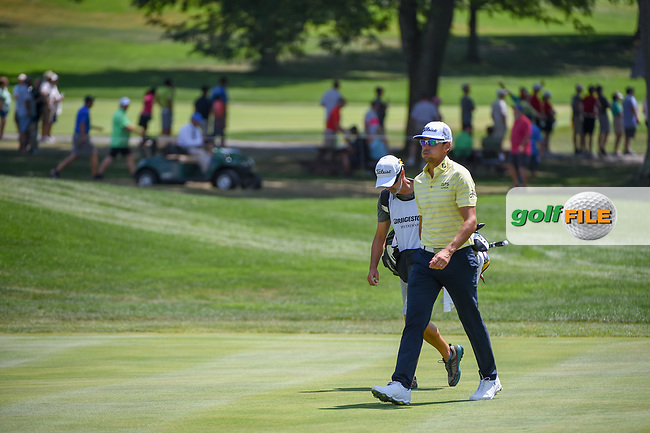 Rafael Cabrera Bello (ESP) heads down 7 during 3rd round of the World Golf Championships - Bridgestone Invitational, at the Firestone Country Club, Akron, Ohio. 8/4/2018.<br /> Picture: Golffile | Ken Murray<br /> <br /> <br /> All photo usage must carry mandatory copyright credit (© Golffile | Ken Murray)