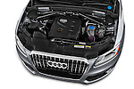 Car Stock 2017 Audi Q5 Premium 5 Door SUV Engine  high angle detail view