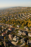 Aerial of Forest Heights housing development area, Portland, Oregon