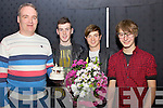 Pictured at the Talent of Iveragh Competition at The Foilmore Community Centre on Saturday night last 'Alpha-Q' joint winners of the Original Song section of the competition pictured here being presented with their trophy were l-r; Brian O'Sullivan(Hillgrove Porcelain), Pierce Lynch, Adam Sullivan & Eoin Fitzgerald.  'If All Else Fails' were the joint winners in this section.