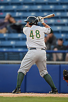 Lynchburg Hillcats catcher Joseph Odom (48) during a game against the Salem Red Sox on April 25, 2014 at Lewisgale Field in Salem, Virginia.  Salem defeated Lynchburg 10-0.  (Mike Janes/Four Seam Images)