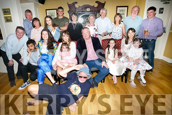 Tom McGiff, Tralee celebrates his 60th birthday with family and friends at the Brogue on Saturday