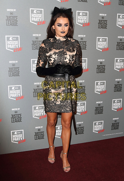 Amber Davies at the KISS House Party at SSE Arena Wembley, London on Thursday 26 October 2017<br /> CAP/ROS<br /> &copy;ROS/Capital Pictures