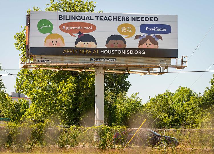 Teacher recruiting billboard near I-45 and Tidwell, May 25, 2017.