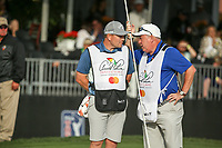 Caddies Matthew Kelly and Michael Donaghy on the 17th during the final round of the Arnold Palmer Invitational presented by Mastercard, Bay Hill, Orlando, Florida, USA. 08/03/2020.<br /> Picture: Golffile | Scott Halleran<br /> <br /> <br /> All photo usage must carry mandatory copyright credit (© Golffile | Scott Halleran)