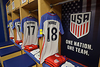 Harrison, N.J. - Friday September 01, 2017: U.S. Men's National team locker room prior to their match against Costa Rica during a 2017 FIFA World Cup Qualifying (WCQ) round match between the men's national teams of the United States (USA) and Costa Rica (CRC) at Red Bull Arena.