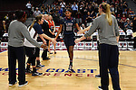 March 6, 2015; Las Vegas, NV, USA; Loyola Marymount Lions guard Sophie Taylor (20) during player introductions against the Gonzaga Bulldogs before the game of the WCC Basketball Championships at Orleans Arena.