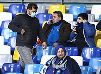 25th February 2020; Stadio San Paolo, Naples, Campania, Italy; UEFA Champions League Football, Napoli versus Barcelona; fans with protective masks for the coronavirus alert