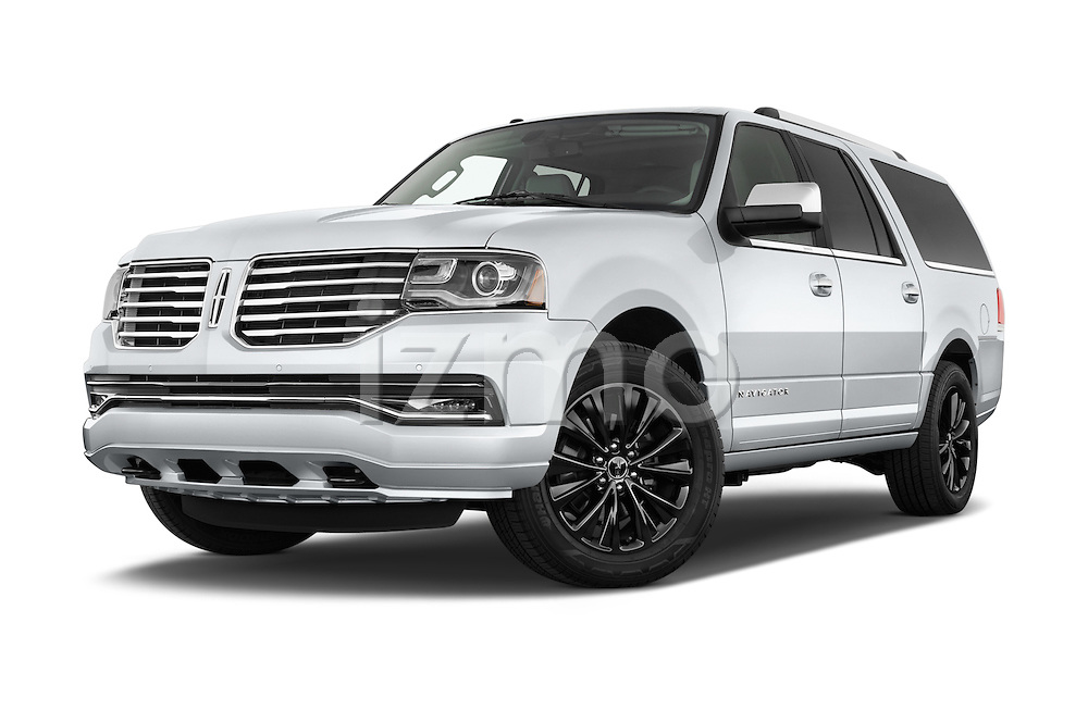 Stock pictures of low aggressive front three quarter view of2015 Lincoln Navigator Select 5 Door SUV Low Aggressive